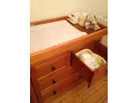 Mothercare Harrogate Wooden Changing Unit (£130/ RRP £430)