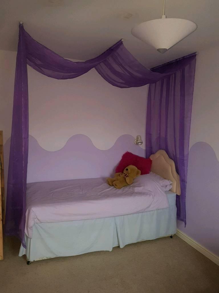 Purple Voile Single Bed Canopy In Wymondham Norfolk Gumtree