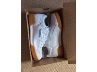 Reebok Workout Plus Trainers (Size 9) White and Gum BRAND NEW & BOXED