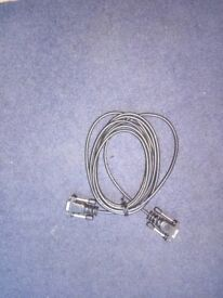 VGA male-male standard cable: 3-metre long cable Maplin brand.