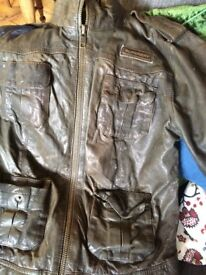 Ladies leather Superdry jacket size large