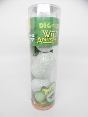 MindWare Dig It Up! 3-Pack Travel-Sized Tubes (Wild Animals)