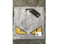 Brand new men's Fendi tshirt grey large