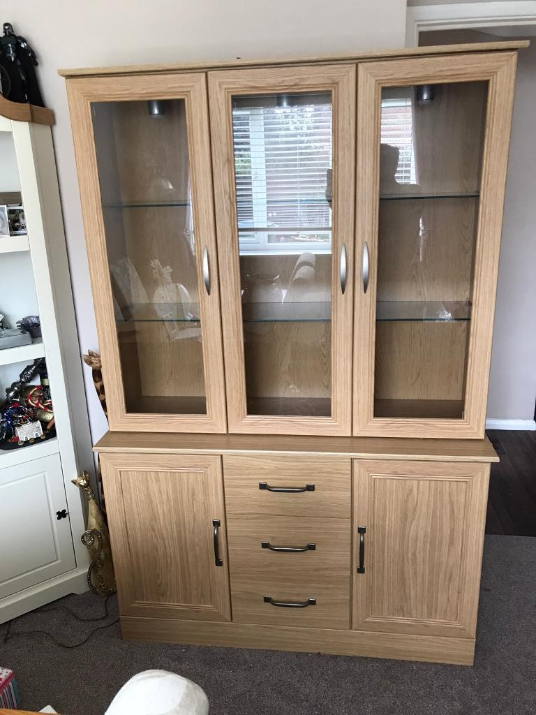 3 Door Display Cabinet Sideboard 'Addison' | in Ludgershall ...