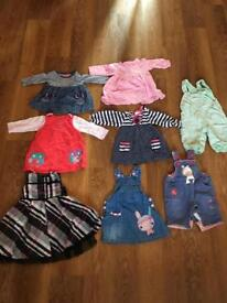 8 girls outfits, size 3-6 months