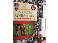 Recipe books and childcare books