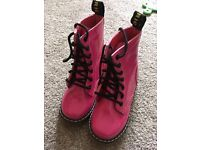 Pink doc martin style boots size 10