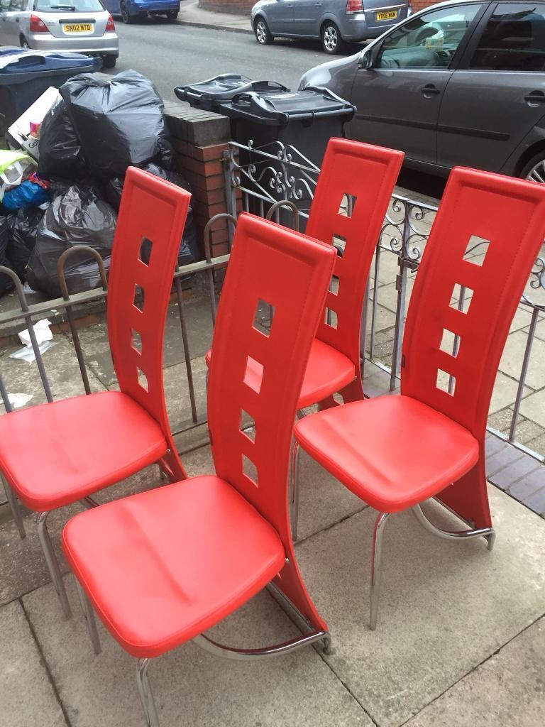 Lovely red dining Chairs in very good condition