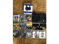PS3 12GB Slim, Black, 11 games, 2 controllers, HMDI and headset