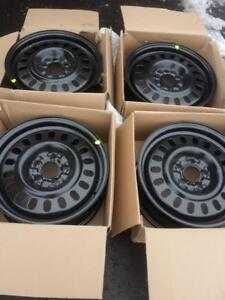 BRAND NEW  FACTORY OEM  FORD ESCAPE ( 2013 - 2018  )  16 INCH STEEL RIM SET OF FOUR.