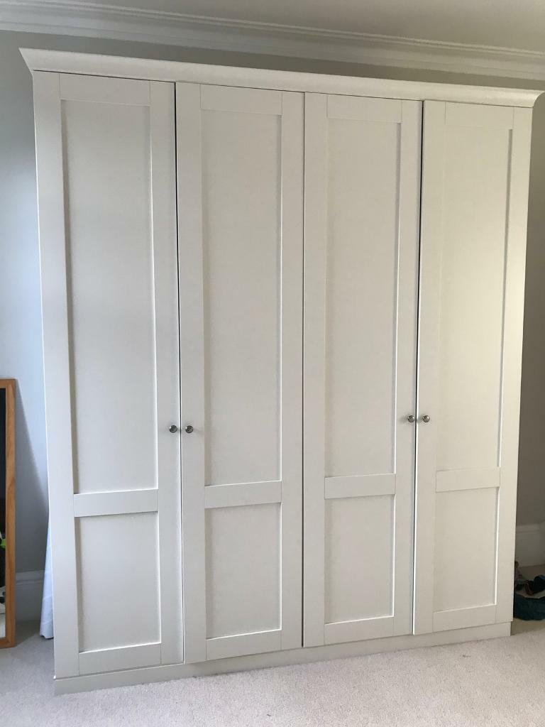 Two Tall Shaker Style Wardrobes From John Lewis In