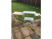 Lightweight aluminium camping kitchen/wash/clothes/food stand