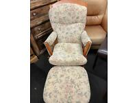 Rocking/glider chair. And matching stool