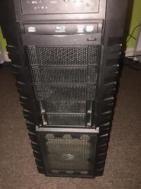 Cooler master Haf X computer case, 750w PSU corsair, Lite on blue-ray writer