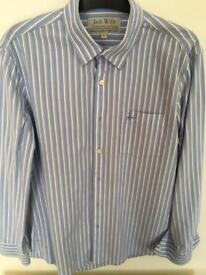 Jack Wills Men's striped blue and white shirt.