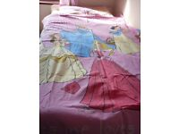 Disney Princesses Cinderella, Sleeping Beauty, Belle & Snow White Pink Single Bed Duvet Cover Set