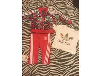 Adidas tracksuit and t-shirt