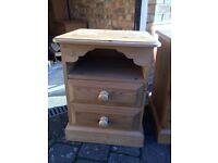 Oak wood, bed side tables