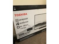 "Brand new toshiba 43"" LED FULL HD TELEVISION."