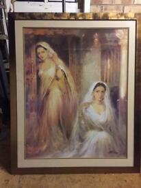 Indian Brides Classical Framed Picture (Large)