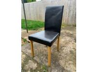 4 x leather dining chairs