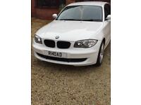 Bmw 1 series white m sport alloys. 8 STAMPS. Full service history. £3995 Ono. BARGAIN