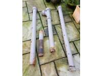 "Cast iron soil pipe 4 1/2""inch waste / approx 5mtr combined"