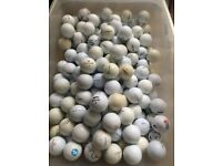 Used golf balls all brands x 250 balls