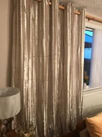 Next champagne curtains