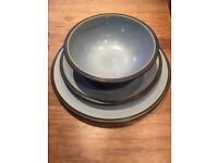 DENBY BLUE JETTY 12 PIECE DINNER SERVICE