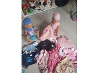 Baby born dolls + clothes