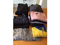 Bundle of Men's Clothes, great brands!! 14 piece bundle set jumpers, shirts, t-shirts LARGE