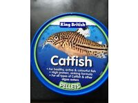 KING BRITISH CATFISH PELLETS - 200g - new unopened tub - exp date;- 08/2018