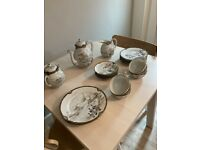 Antique Vintage Japanese Oriental Porcelain Tea Service 23 Piece Set