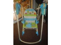 Baby Rocker Swing - Battery operated with Lullaby Music and Detachable Seat