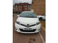 Ex demo + one owner Toyota Yaris, less than 7k miles MOT'd and Serviced until March 2019