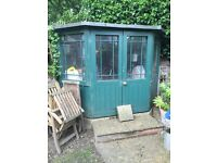 Large pretty corner shed / summer house