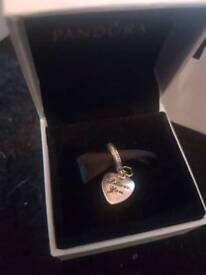 Genuine Pandora ' i love you forever' charm