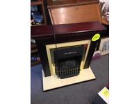 Electric Fireplace Surround Mantle Half Heater heating