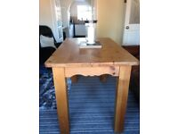 Quality pine dining table