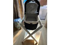 Uppa baby 2012 bassinet, carry bag, stand and rain cover