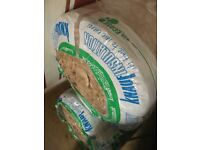 3 roll of knauf insulation