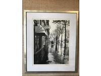 4 x large framed black and white pictures / photographs