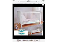 Cotbed - for up to 5 years. Convertible cot bed & deluxe foam mattress