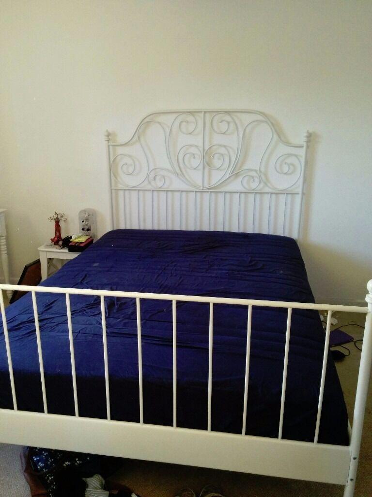 ikea leirvik 140x200 cm bed frame ikea hovag medium firm mattress - Ikea Leirvik Bed Frame