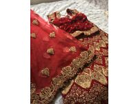 Asian Bridal Wear / Wedding Indian Lengha size 8/10