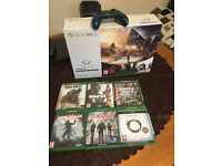 x box one s 1tb NEW +controller and 6 games