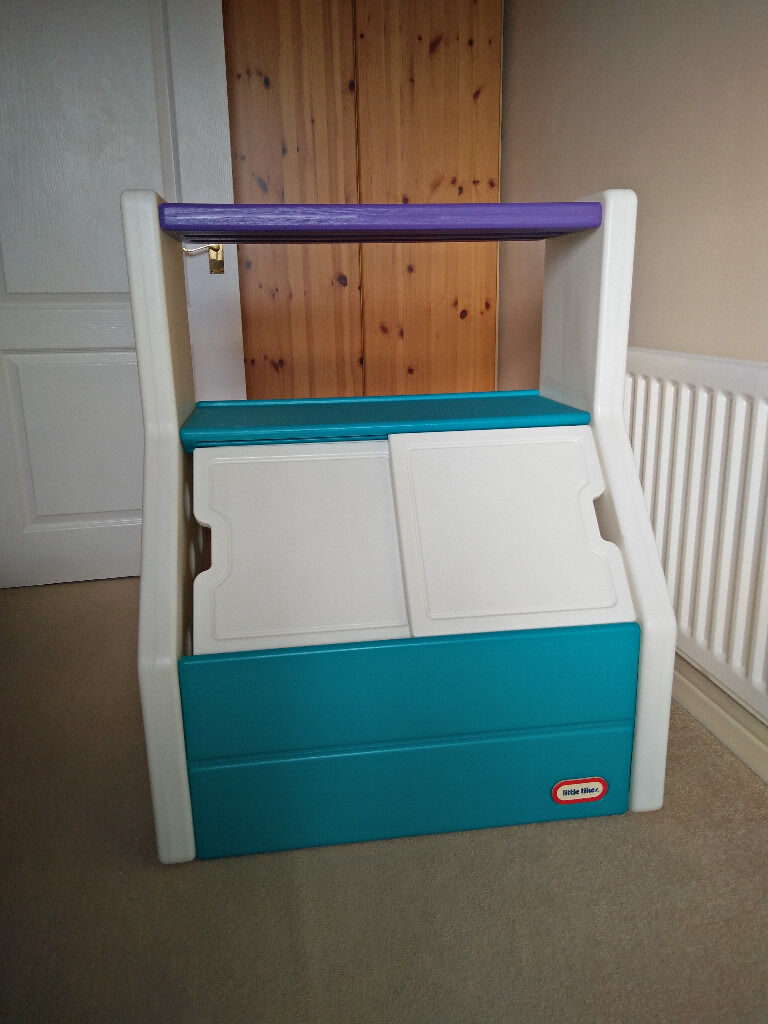 Little Tikes Toy Chest And Book Shelf