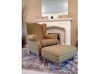 Next Sherlock Armchair & Matching Footstool