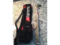 Hockey stick with Grays case